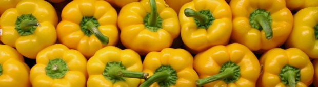 yellow peppers farmers market vegetables produce 1