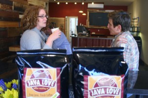 Jodie and Kristine Enjoying A Hot Cuppa In Montclair