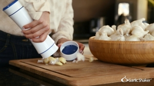 Garlic Shaker peels garlic in seconds.