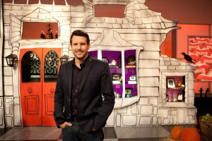 Host Rossi Morreale poses for a photo, as seen on Food Network's Halloween Wars, Season 5.
