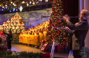 Presented in the America Gardens Theatre at Epcot, Candlelight Processional is one of the most beloved holiday traditions at Walt Disney World Resort. Featuring a joyous retelling of the Christmas story by a celebrity narrator, accompanied by a 50-piece orchestra and a glorious mass choir, this festive performance takes place annually in November and December.