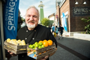 Celebrity Chef Art Smith poses with fresh Florida produce