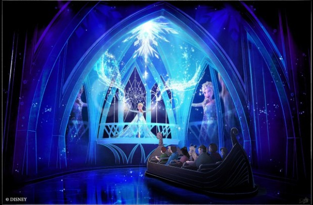 "The ""Frozen Ever After"" attraction coming to Epcot in 2016 is an adventure fit for the entire family that will take guests through the kingdom of Arendelle. Guests will celebrate a ""Summer Snow Day"" on a journey through a frozen willow forest, past Troll Valley and up to Queen Elsa's palace ."