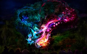 """The iconic Tree of Life at Disney's Animal Kingdom will undergo an amazing awakening starting spring 2016 as the animal spirits of the tree are brought to """"light"""" at night by magical fireflies, revealing moments of wonder and enchantment."""