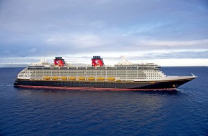 Pictured here is the Disney Fantasy, the fourth ship in Disney's fleet launched in 2012. The Disney Fantasy continues the Disney Cruise Line tradition of blending the elegant grace of early 20th century transatlantic ocean liners with contemporary design and spectacular Disney entertainment.