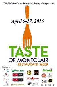 Taste Of Montclair Restaurant Week April 2016
