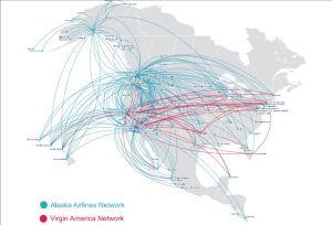 Virgin America Alaska Routes