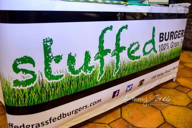 Stuffed Grass-Fed Burgers at Taste of Montclair. (photo courtesy Anthony S Torres Photography)
